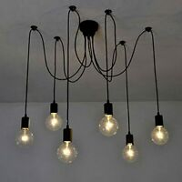 Wayfair 6 Light Bulb Vintage Industrial Gothic Chandelier Ceiling Spider Pendant
