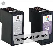 Rem. LEXMARK 32 & 33 Ink Cartridges For X7170 X7350 X8300 P915 P4350 P6210 P6250