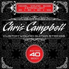 CHRIS CAMPBELL CUSTOM NICKEL WOUND 4-STRING BASS STRINGS #6001 LIGHT GAUGE
