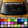 """MAZDA MAZDASPEED3 MS3 Windshield Banner Vinyl Premium Decal Sticker 40""""x3.8"""""""