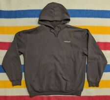 VTG 90s Carhartt WIP Mini Spellout Brown Work Wear Pullover Hoodie Sweater XL