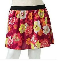 NWT KOHLS SO Festival Fuchsia Floral Skirt Juniors Plus Size 2X 19/21