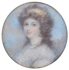 """""""Portrait of a young lady"""", fine English miniature, ca. 1790"""