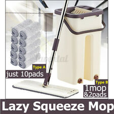 Flat Squeeze Mops Fiber Cleaning Free Hand Spin Washing Ultrafine Magic Floor US
