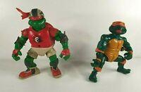 Vintage Teenage Mutant Ninja Turtles Figures - Playmates - Raph - Mikey - TMNT