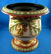 """Fitz & Floyd: """"Equestrian""""10 3/8"""" Footed Cachepot w/applied leaves&acorns (ISW)"""