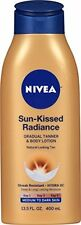 NIVEA Sun-Kissed Radiance Gradual Tanner & Body Lotion, Medium to Dark Sk...