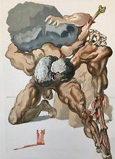 Salvador DALI La Divine Comédie de Dante  Les Avares Et Les Prodigues