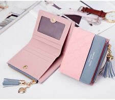 Women Short Wallets Small Bifold Leather Pocket Wallet Mini Purse Card Holder US