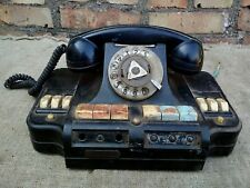 Phone Switch Rotary Dial Desk TelephoneCommutator 60' Vintage Soviet USSR Blac