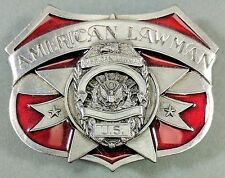 **NEW** 1986 American Lawman Belt Buckle ~ Red Inlay