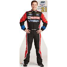 TREVOR BAYNE #21 NASCAR Auto Racing CARDBOARD CUTOUT Standup Standee Poster F/S