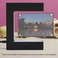 E-shape Magnetic Levitating Floating Rotate Picture Photo Frame Home Decor Gift