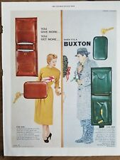 1953 Buxton wallets key holder men's women's for him for her vintage ad