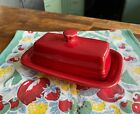 HLC Fiestaware Scarlet Fiesta Red XL Extra Large Covered Butter Dish