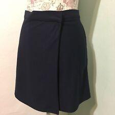 Womens AMERICAN APPAREL Blue Wrap Mini Skirt Size Small