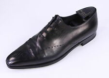 * BERLUTI * Recent Black Leather Perforated Oxford Dress Shoes UK 10 - US 11