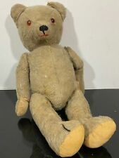Antique Mohair Straw Articulated Jointed Groaning Teddy Bear