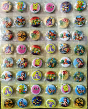 Pokemon GO Pikachu 3CM 48x PIN BADGES NEW FOR PARTY CLOTH BAG