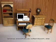 Computerzimmer 7 teilig , 1:12 , Puppenmöbel , Puppenstube , Möbel