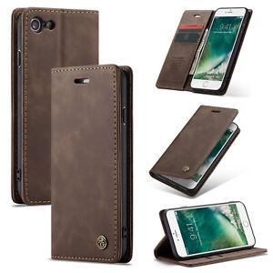 Für iPhone SE 2020 8 Plus Premium Leder Handytasche Schutz Hülle Flip Case Etui