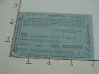 Vintage paper - DRIVERS LICENCE - WEST VIRGINIA - 1960-61 --  CLASS T - TRAILER