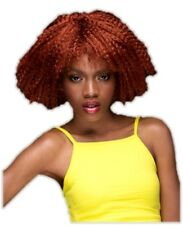 High Quality Blush Zoey Henna Red Costume Wig Womens Fantasy Style Crimped Hair