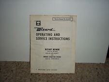 WIZARD ROTARY MOWER SERVICE MANUAL 61-419
