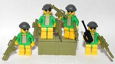 4 JOKER'S or RIDDLER'S HENCHMEN - LEGO MINIFIGURES - CUSTOM WEAPON GOTHAM CITY
