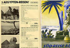 München Süd Reisebüro Reklame Prospekt für Venedig Afrika Sizilien Reisen 1938