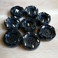LEGO PARTS - x8 qty Wheel Hard Plastic Excellent