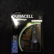 Duracell 3 In 1 Wall And Car Lightning & USB 2.1 amp Charger New