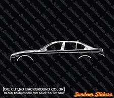 2x silhouette stickers auto aufkleber -for BMW f10 5er ,Limousine 520d 530d 535