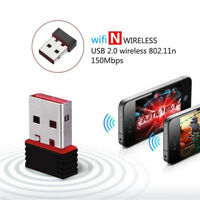 Mini Kabellos 150Mbps USB Adapter WiFi 802.11n//g 150M Netzwerk Lan Card AHS