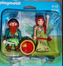 Playmobil 6842 Duo Pack Elfe und Zwerg 2 Figuren Zauberkessel Energiestein Neu