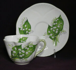 Shelley LOTV Dainty Lily of the Valley cup and saucer duo #3 #13822