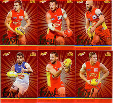 2016 Select AFL Footy Stars Trading Card Excel Silver Team Set(12)--Gold Coast
