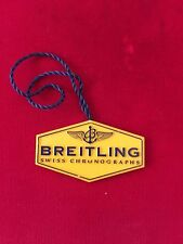 "100% ORIGINAL USED ""BREITLING"" YELLOW TAG HANG TAG FOR CHRONOGRAPHS MODELS"