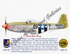 "357FG Richard Peterson's P-51D Mustang ""Hurry Home Honey"" Print by Willie Jones"
