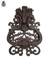 Heurtoir style ancien, marteau de porte en fonte avec poignée