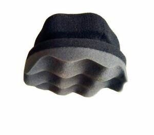 Handheld Wave Type Tire Waxing Sponge Easy Grip Applicator Car Detailing Tool