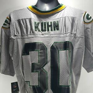 Nike John Kuhn #30 Football Jersey Gray NFL Players Green Bay Packers Size 44  L