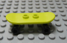 Lego Minifig Toy Skateboard Lime Green with Black Wheels