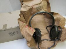 Vietnam Era Us Radio Headset H-113/U 1970 Can Be Used w/ M1 Helmet or Tanker Cvc
