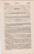Memorial Cadwallader Wallace Virginia Military Bounty Land Warrants Compensation