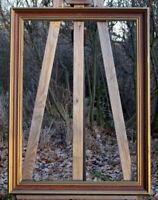 schöner Prunkrahmen Holzrahmen Massivholz 81 x 61 cm FM: 71 x 51 cm