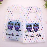 50pcs/lot Small Plastic Gifts Packaging Bags Jewelry Accessories Mini Xmas Boxes