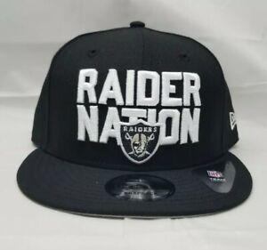 NEW ERA 9FIFTY ADJUSTABLE SNAPBACK HAT.  NFL OAKLAND RAIDERS.  RAIDER NATION.