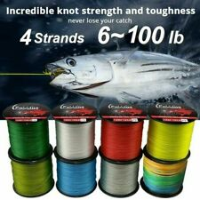 100M Fishing Line Outdoor Fishing 4 Weaves PE Multifilament Braided 6-100LB Line