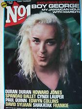 NO 1 (NUMBER ONE) MAGAZINE 18/8/84 - BOY GEORGE - CYNDI LAUPER - DURAN DURAN